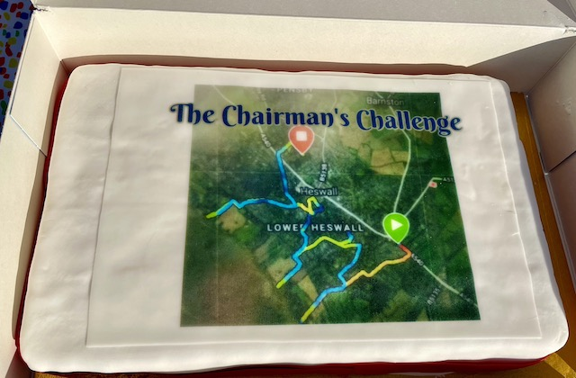 Cake with a picture of the challenge