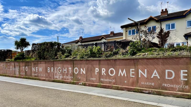 New Brighton Promenade wall sign