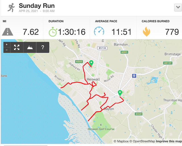 The map of my run.