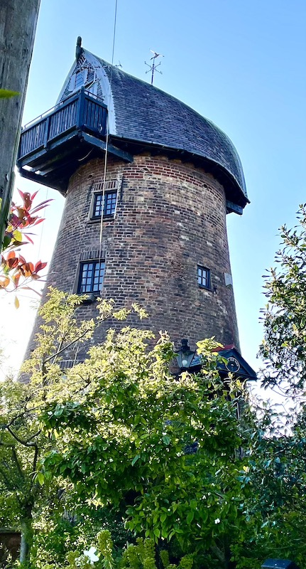 An old windmill, without sails.