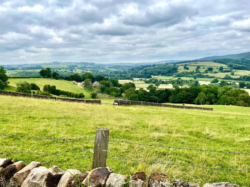 Scenery of the Derbyshire landscape